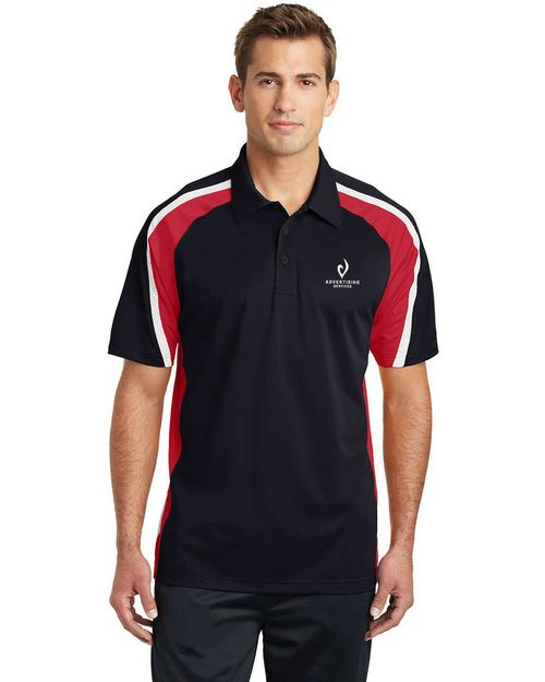 Sport-Tek ST654 Tricolor Micropique Sport-Wick Polo by Port Authority