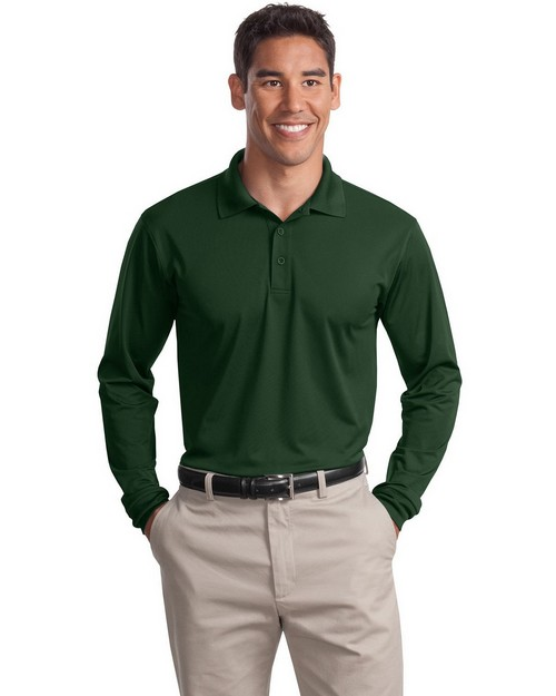 Sport-Tek ST657 Long Sleeve Micropique Sport-Wick Polo by Port Authority