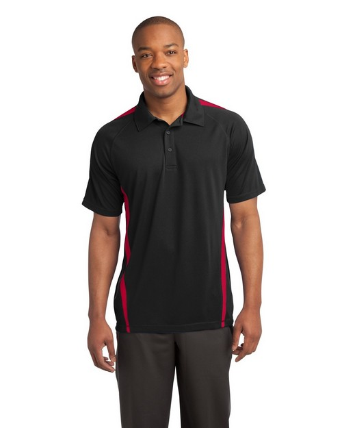 Sport-Tek ST685 PosiCharge Micro-Mesh Colorblock Polo by Port Authority