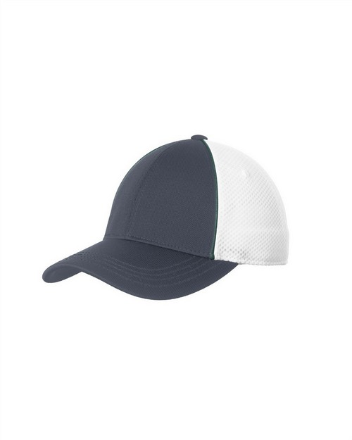 Sport-Tek STC29 Piped Mesh Back Cap