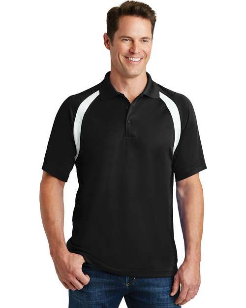 Sport-Tek T476 Dry Zone Colorblock Raglan Polo by Port Authority