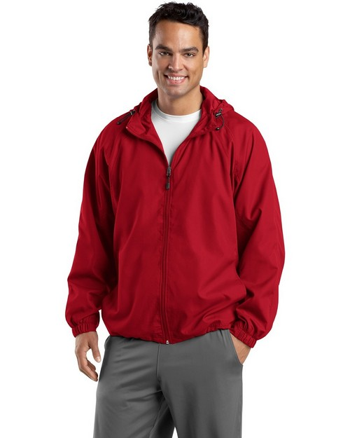 Sport-Tek TJST73 Tall Hooded Raglan Jacket by Port Authority