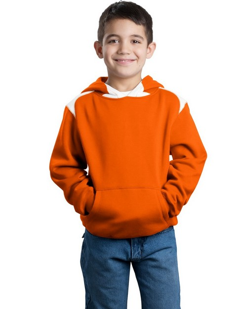 Sport-Tek Y264 Youth Pullover Hooded Sweatshirt with Contrast Color