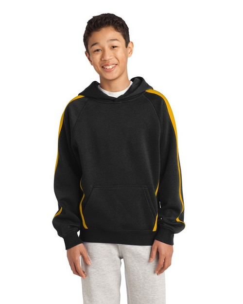 Sport-Tek YST265 Youth Sleeve Stripe Pullover Hooded Sweatshirt by Port Authority