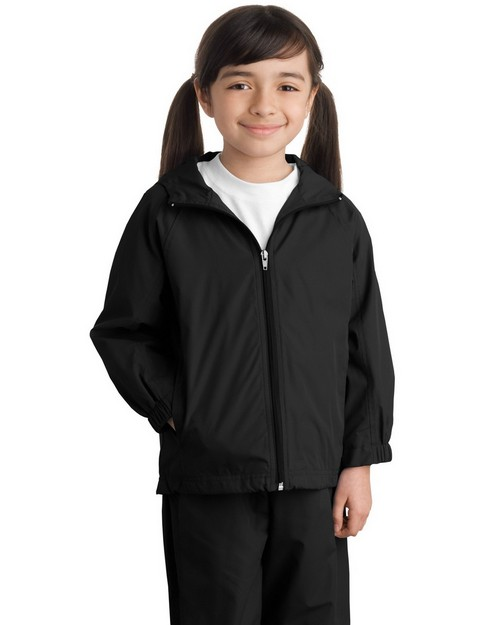 Sport-Tek YST73 Youth Hooded Raglan Jacket by Port Authority