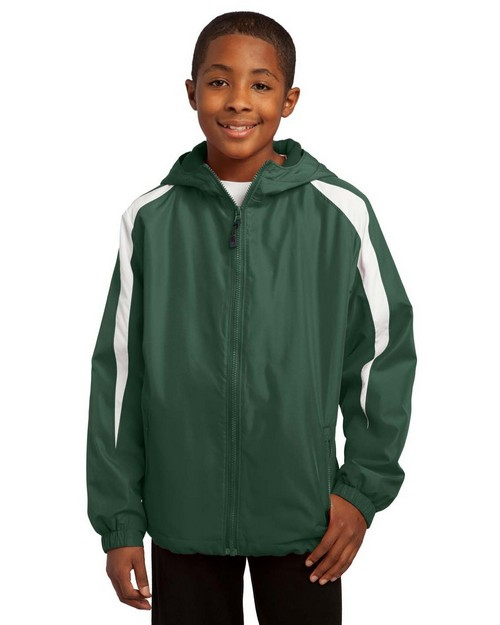 Sport-Tek YST81 Youth Fleece-Lined Colorblock Jacket by Port Authority