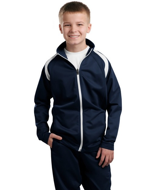 Sport-Tek YST90 Youth Tricot Track Jacket by Port Authority