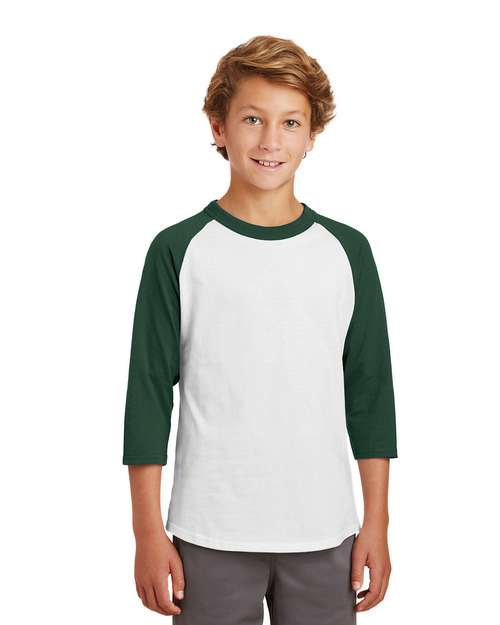 Sport-Tek YT200 Youth Colorblock Raglan Jersey by Port Authority