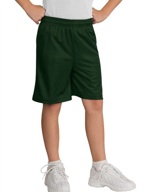 Sport-Tek YT510 Youth Mesh Short by Port Athority