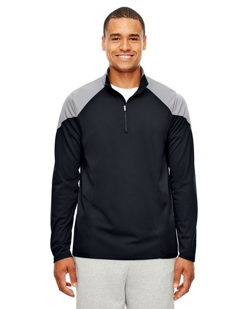 Team 365 TT27 Mens Command Colorblock Snag-Protection Quarter-Zip