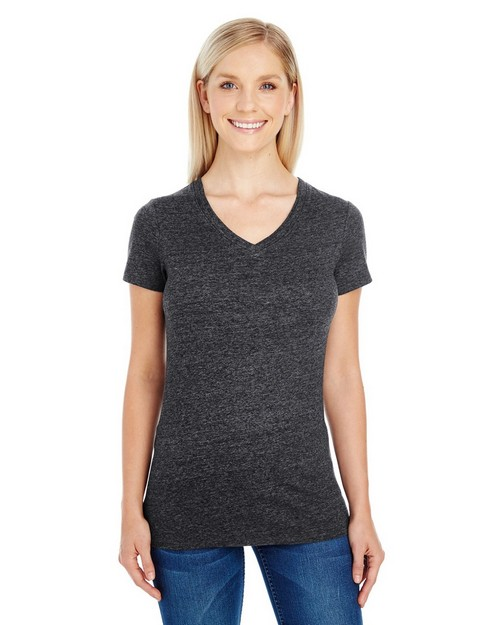 Threadfast Apparel 202B Ladies Triblend Short-Sleeve V-Neck Tee
