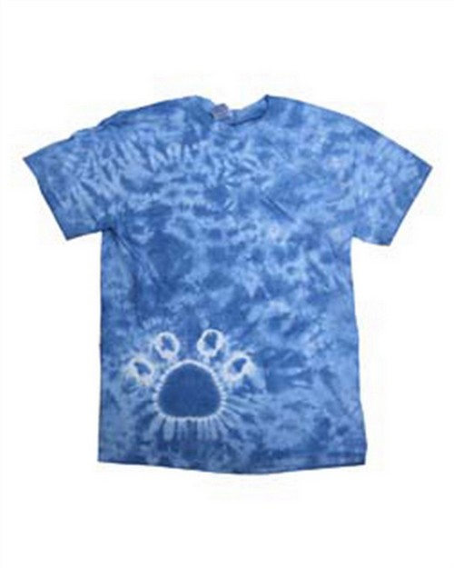 Tie-Dye 1170Y Drop Ship Youth Short Sleeve Paw Print Tie Dye T-Shirt