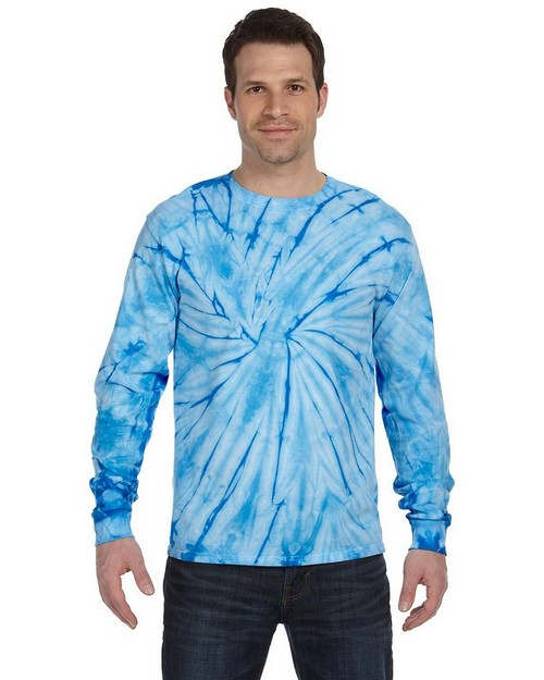 Tie-Dye C2000 Tie-Dyed Adult Long-Sleeve Cotton Tee