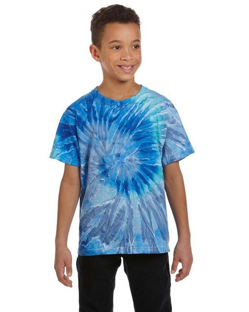 Tie-Dye CD100Y 5.4oz. Youth 100% Cotton Tie-Dyed T-shirt