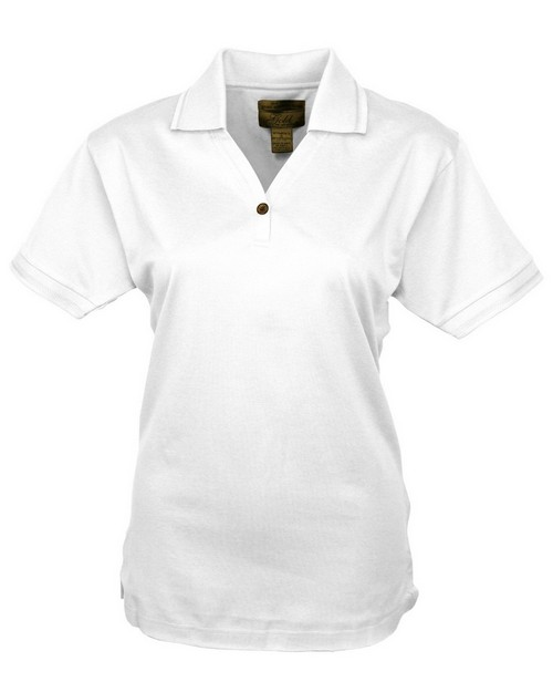Tri Mountain Gold 442 Arcadia Women's pique y neck golf shirt