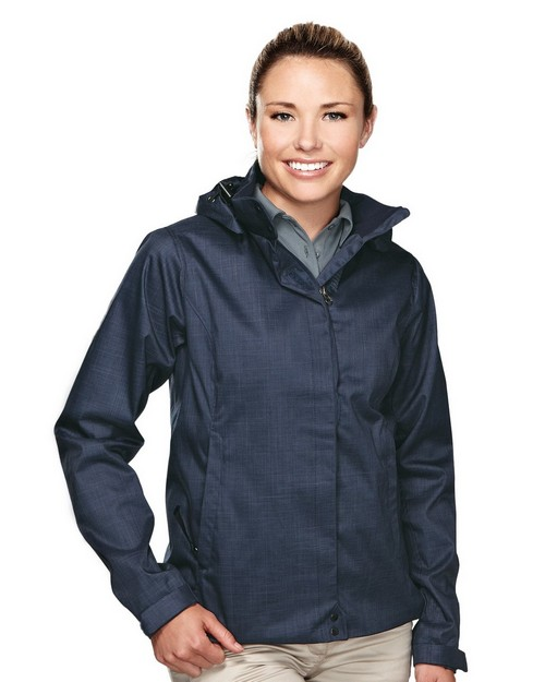 Tri Mountain Gold 6160 Kamstra Women's twill jakcet hoodly jacket