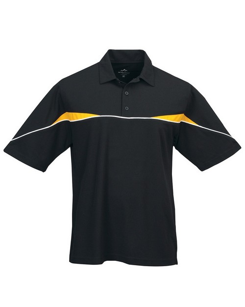 Tri-Mountain Performance 050 Men's SS Knit Polo Shirt Piping and Contrast Inserts