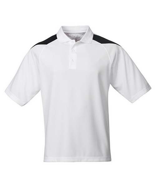 Tri-Mountain Performance 207 Men's Knit Polo Shirt Raglan Sleeve
