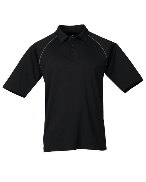 Tri-Mountain Performance 227 Men's Raglan Knit Polo Shirt