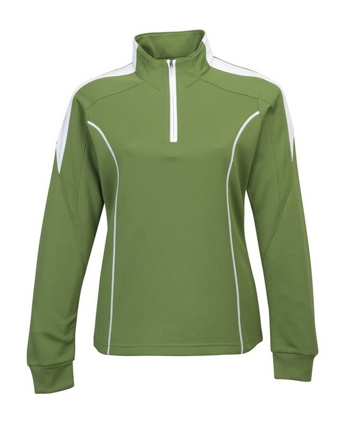 Tri-Mountain Performance 603 Women's 100% Polyester Mesh Textured 1/4 Zipper Pullover