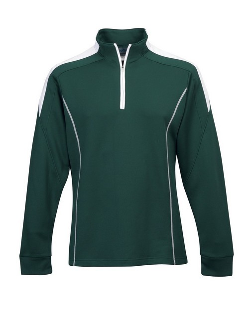 Tri-Mountain Performance 605 Men's 100% Polyester Mesh Textured 1/4 Zipper Pullover