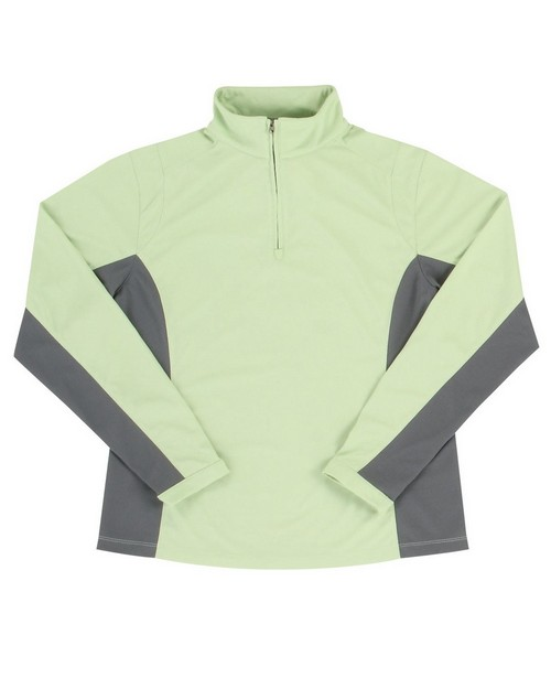 Tri-Mountain Performance 621 Women's Poly UltraCool 1/4 zip pullover shirt