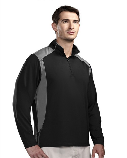 Tri-Mountain Performance 624 Men's Poly UltraCool 1/4 zip pullover shirt