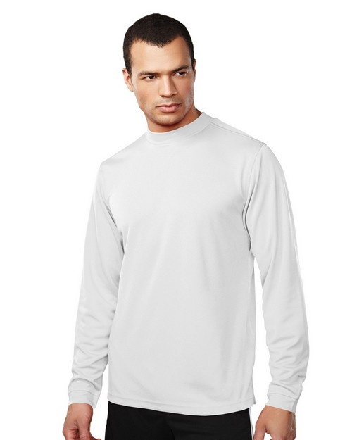 Tri-Mountain Performance 626 Men 100% Polyester LS Knit Mock Neck Shirt w/ Self Cuff