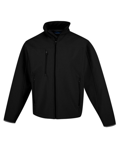 Tri-Mountain Performance 6400 Men's poly stretch bonded soft shell jacket