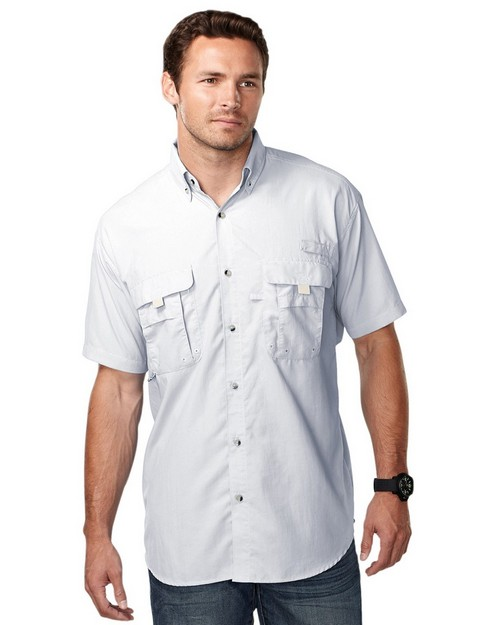 Tri-Mountain Performance 703 Men nylon shirt with UPF protection and ventilated back
