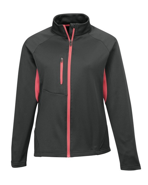 Tri-Mountain Performance 7357 Women's 100% Polyester Micro fleece long sleeve jacket