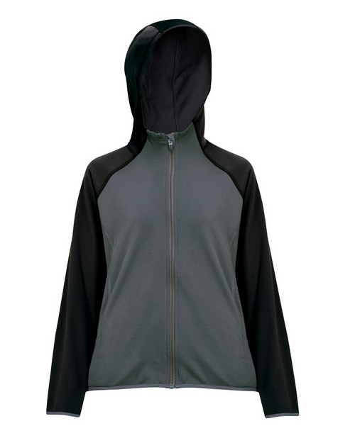 Tri-Mountain Performance 7387 Women's 100% Poly Fleece long sleeve ULTRA COOL jacket with hood