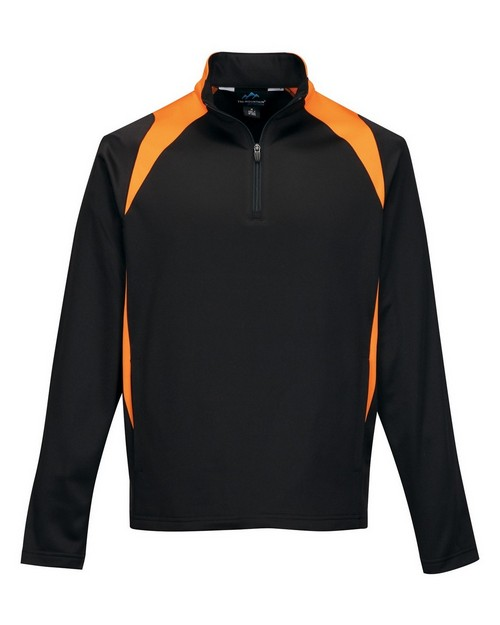 Tri-Mountain Performance F7351 Men's 100% Polyester Micro Fleece 1/4 Zip Pull over