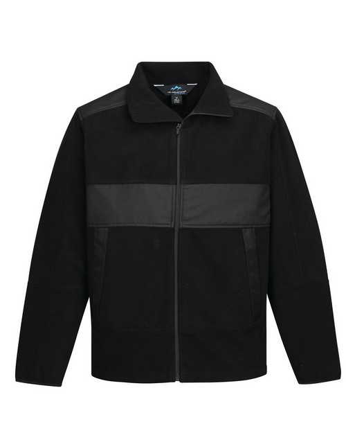Tri-Mountain Performance F7885 Men's 100% Poly Fleece/Mesh Bonded Jacket