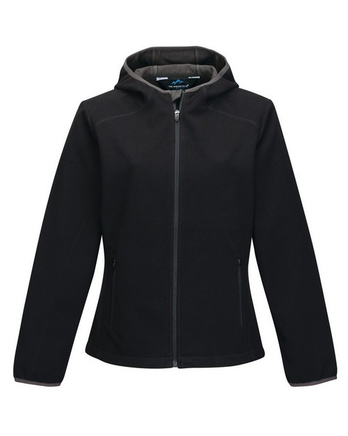 Tri-Mountain Performance FL7887 Women's Bonded Fleece Hoody Jacket W/Slash Pocket
