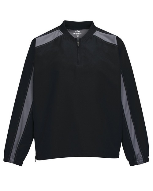 Tri-Mountain Performance J2547 Men's 100% Micro Plyester 1/4 Zip Wind Shirt