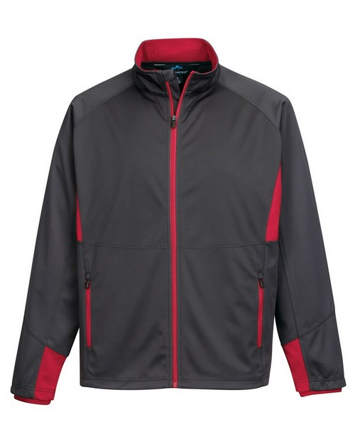 Tri-Mountain Performance J6150 Men's Poly Bonded Jacket W/Fleece Side Cut Panel And Contrast Zip
