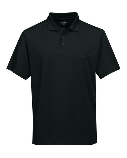 Tri-Mountain Performance K020 Men's 100% Polyester Knit S/S Golf Shirt