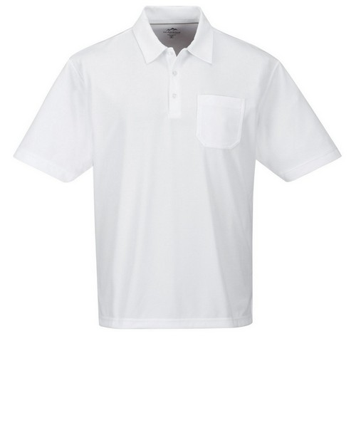 Tri-Mountain Performance K107P Men's 100% Polyester Short Sleeve Golf Shirt