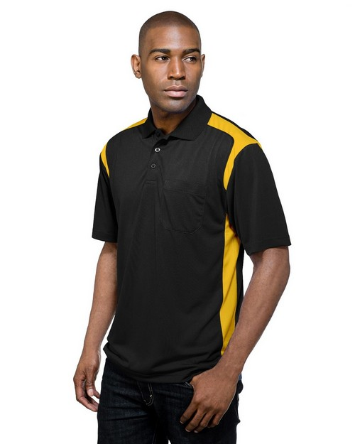 Tri-Mountain Performance K145P Men's 100% Polyester Knit S/S Golf Shirt