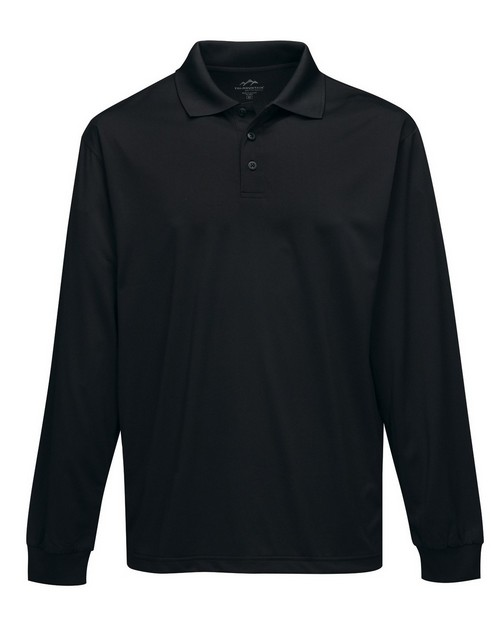 Tri-Mountain Performance K224LS Men's L/S Golf Shirt