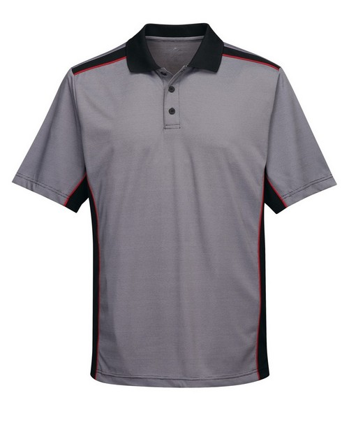 Tri-Mountain Performance K340 Men's 100% Polyester Knit S/S Golf Shirt