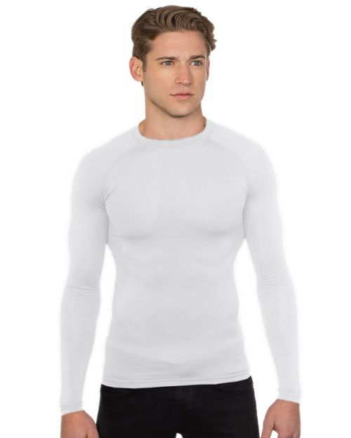 Tri-Mountain Performance K604LS Gauntlet Long Sleeve Compression Crew Neck Shirt