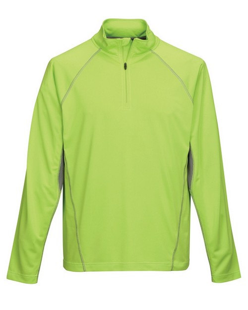 Tri-Mountain Performance K613 Men's 100% Polyester 1/4 Zip Pullover Shirt