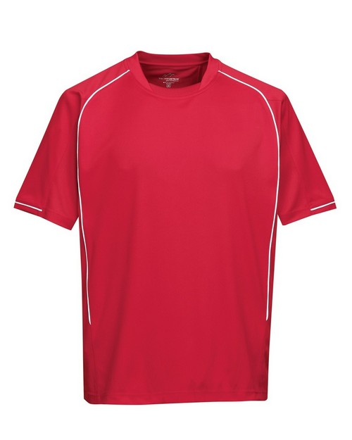Tri-Mountain Performance K623SS Men's 100% Polyester Knit Short Sleeve Shirt
