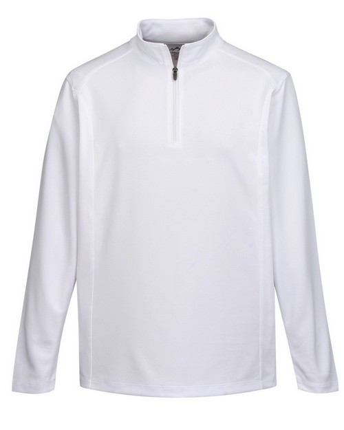 Tri-Mountain Performance K628 Men's 100% Polyester 1/4 Zip Pullover W/TMP Puller