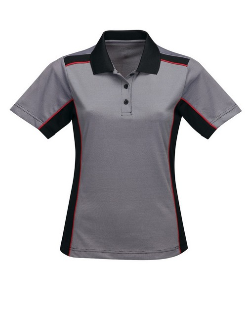 Tri-Mountain Performance KL340 Women's 100% Polyester Y.D. Knit S/S Golf Shirt