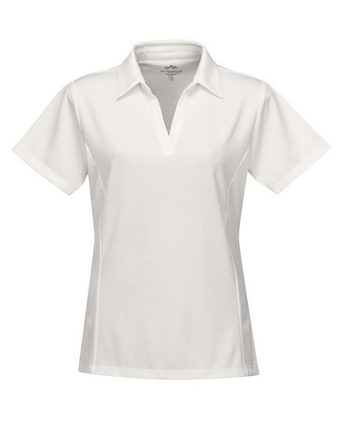 Tri-Mountain Performance KL411 Women's 100% Polyester Knit S/S Golf Shirt