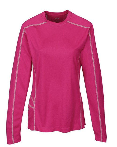 Tri-Mountain Performance KL606 Women's 100% Polyester Jacquard Long Sleeve Shirt