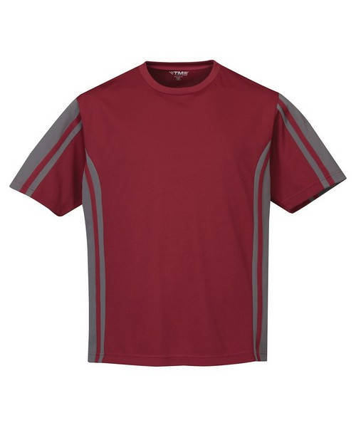 Tri-Mountain Racewear 230 Men Crewneck Knit Tee w/ Rib Collar